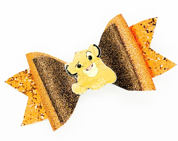 Simba Lion King Glitter Hair Bow