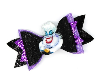Ursula Glitter and Tulle Hair Bow