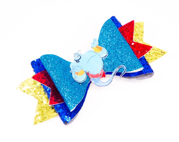 Aladdin Genie Glitter Bow