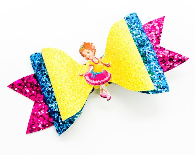 Fancy Nancy Glitter Hair Bow