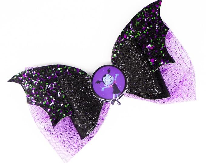 Vampirina Glitter Hair Bow
