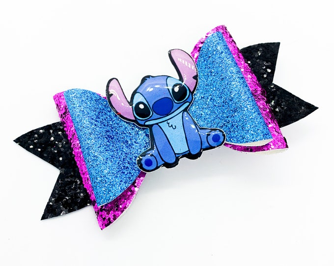 Lilo and Stitch Glitter Hair Bow