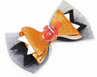 Nemo Finding Glitter Hair Bow