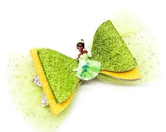 Tiana Glitter Hair Bow
