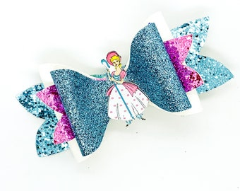 Bo Peep Disney Toy Story Inspired Glitter Hair Bow BoPeep