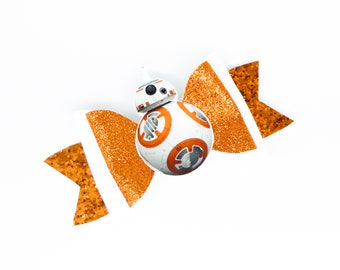 BB-8 Star Wars Glitter Hair Bow