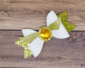 Golden Snitch Harry Potter Glitter Hair Bow with wings