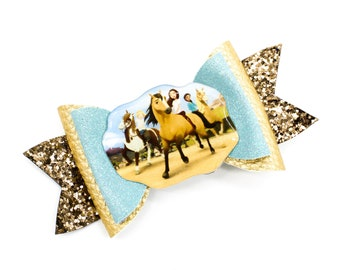 Spirit Riding Free Pals P.A.L.S. Dreamworks Lucky Inspired with Lucky Glitter Leather Hair Bow