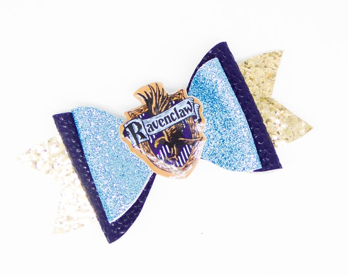 Ravenclaw House Harry Potter Glitter Hair Bow