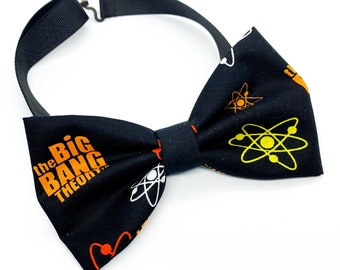 Big Bang Theory Pattern Fabric Bowties for baby, newborn, kids, and adults, matching girls hair bows