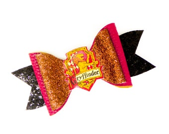 Gryffindor House Harry Potter Glitter Hair Bow
