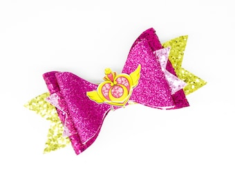 Sailor Moon Pink Glitter Hair Bow