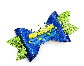Toy Story Aliens Glitter Hair Bow