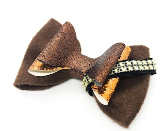 Chewbacca Star Wars Inspired Felt fabric Glitter Hair Bow