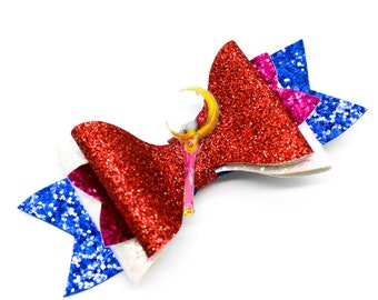 Sailor Moon Wand Glitter Hair Bow