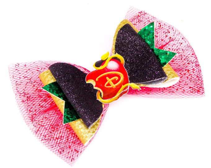 Descendants 3 Logo Glitter Hair Bow