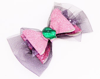 Audrey Descendants 3 Glitter Hair Bow