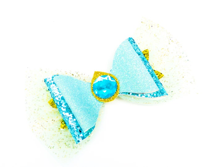 Jasmine Glitter Hair Bow
