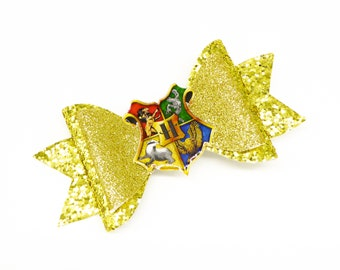House Symbol Harry Potter Glitter Hair Bow