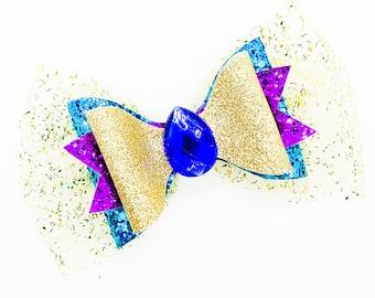 Jasmine Aladdin Disney Inspired Princess Glitter Hair Bow