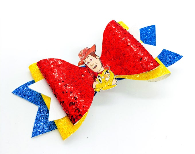 Toy Story Woody Glitter Hair Bow
