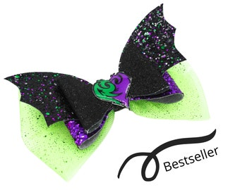 Mal Descendants 3 Glitter Hair Bow