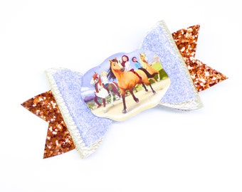 Spirit Riding Free Glitter Hair Bow