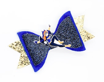 Batgirl DC Super Hero Girls Inspired Chunky Glitter Hair Bow superhero
