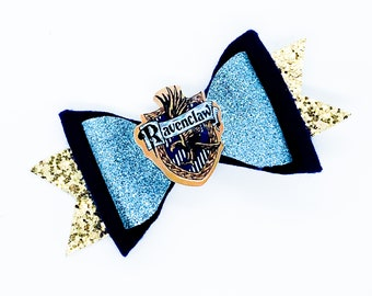 House Ravenclaw *NEW* Harry Potter Inspired Glitter Hair Bow
