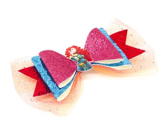 Merida Glitter Hair Bow