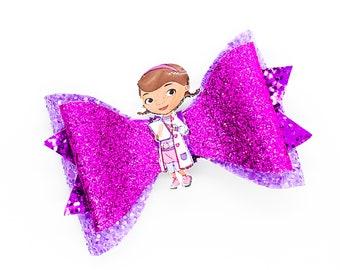 Doc McStuffins Glitter Hair Bow