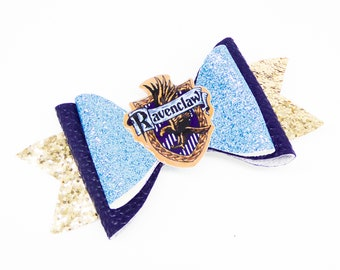 Ravenclaw House Harry Potter Inspired Blue Chunky Glitter Hair Bow