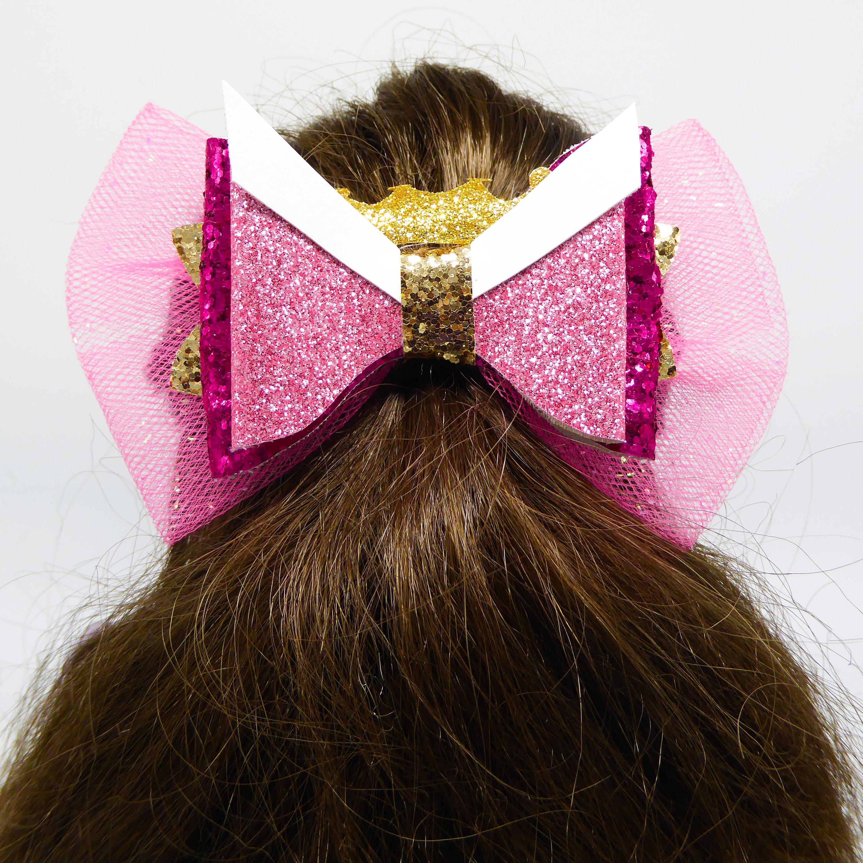 Aurora Inspired Disney Princess Hair Bow Sleeping Beauty