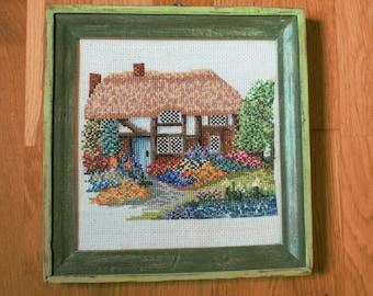 Cross-stitch framework. House in Campaga.