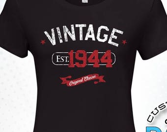2e98bfde Vintage Established in 1944, 75th birthday gifts for women, 75th birthday  gift, 75th birthday tshirt, gift for 75th Birthday for Women