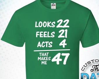 47th Birthday Gift Fun Themed Mens T-Shirt IT TOOK ME 47 YEARS Forty Seven