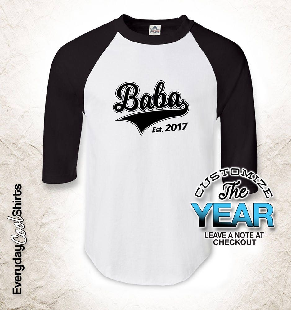 Baba Since (Any Year), Baba Gift, Baba Birthday, Baba t-shirt, Baba Baba t-shirt, Gift Idea, Baby Shower, Pregnancy f92552