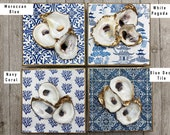 6x6 Decoupage Oyster Art