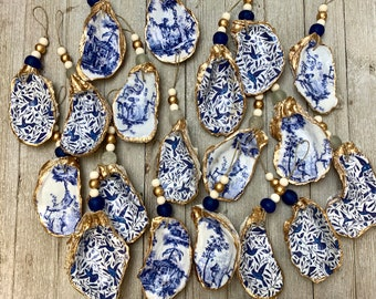 Decoupage Oyster Ornament