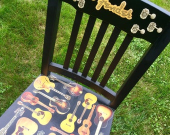 Groovy Guitar Chair Etsy Ocoug Best Dining Table And Chair Ideas Images Ocougorg