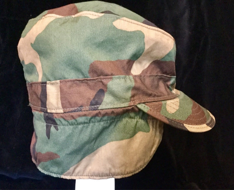 31541e59065 US Army BDU Patrol Hat Cap Field Fatigue Camouflage Size 7