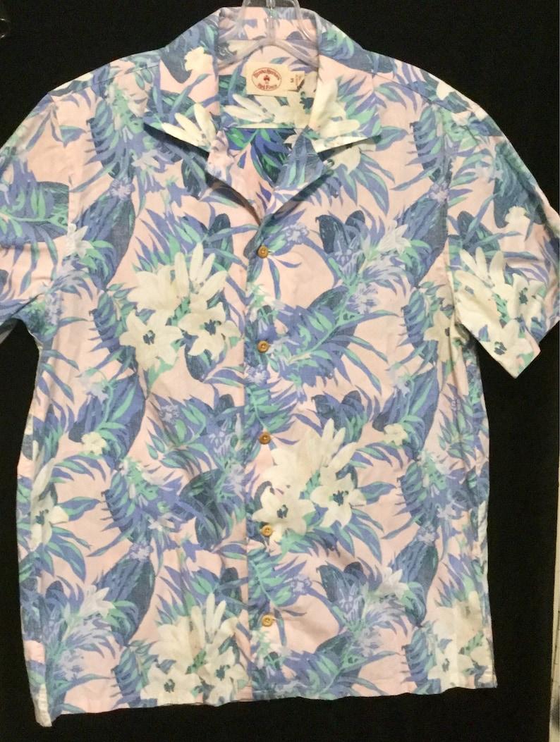 bc4021981392a Mens Hawaiian Shirt Brooks Brothers Red Fleece