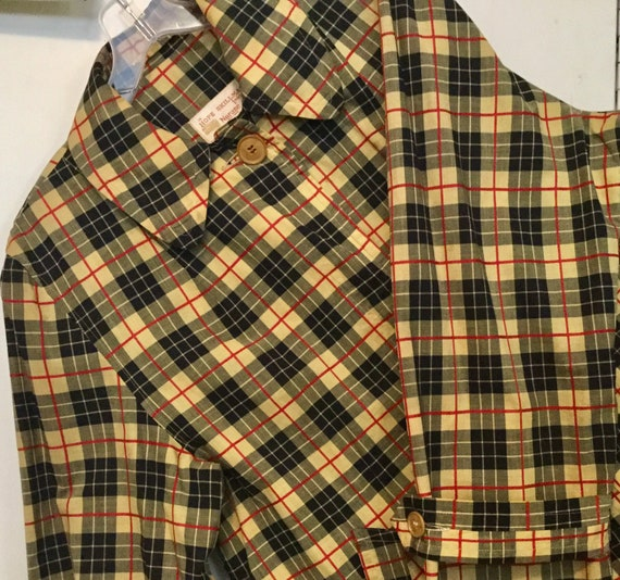 1950s Burberry-Style Raincoat Nova Check Print Coa