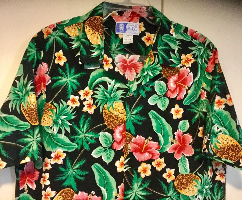 1bf5d0f6b2 Men s Hawaiian Shirt RJC Pineapple Fruit