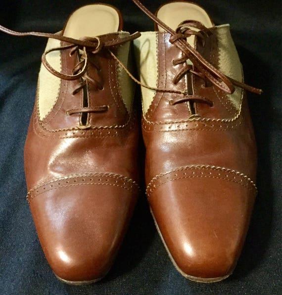 1980s Salvatore Ferragamo Shoes Mules Slip On Flat