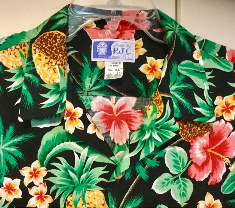 9461544e9 Men's Hawaiian Shirt RJC Pineapple Fruit | Etsy
