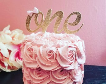 One Cake Topper Bow TopperSmash Topper1st Birthday Boho Chic