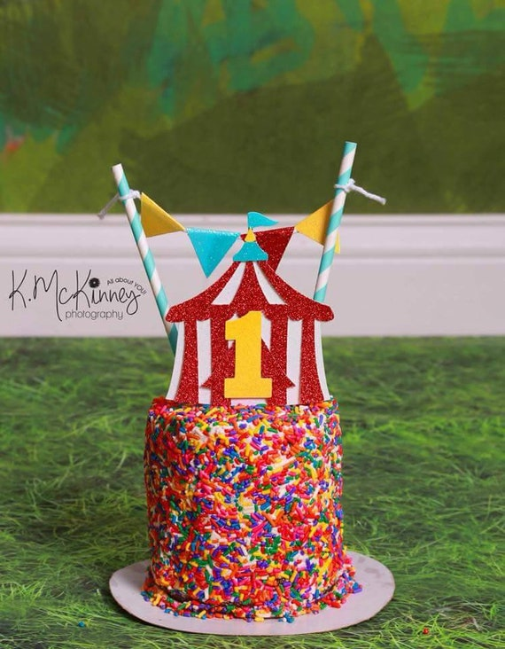 Tremendous Circus Cake Toppercarnival Cake Toppercarnival Etsy Funny Birthday Cards Online Elaedamsfinfo