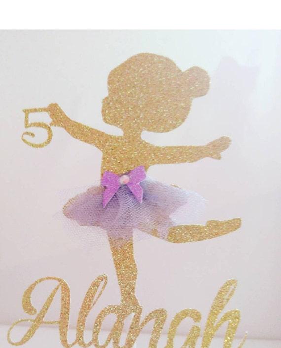 La Torta De Bailarina Adorno Bailarina Cumpleanos Bailarina Etsy