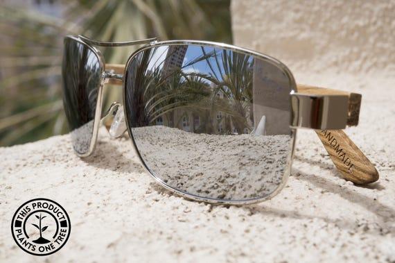 aff60256eae Hand made sunglasses. Canyon Coyote wooden aviator sunglasses.